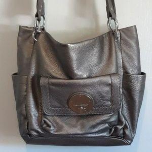 Dana Buchman Shoulder Bag Grey Silver Purse